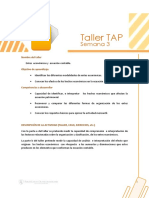 Taller TAP S 3