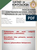 Indicaciones Contraindicaciones Tetraciclinas