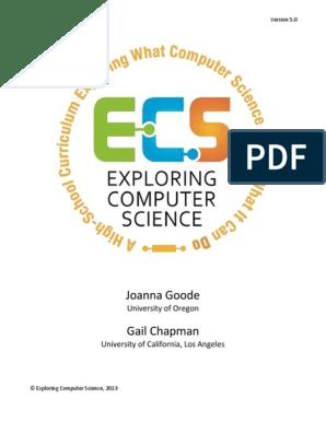 Exploring Computer Science v5 0 | Curriculum | Computing