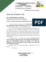 Oficio Asociacion Moradores Del Asentamiento Humano Pedro Ruiz Gallo