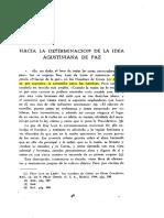 Hacia La Determinacion de La Idea Agustiniana de Paz