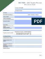 Ebs Paris-2017 Summer Program-Application Form