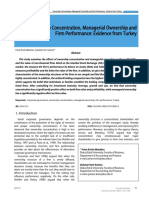 [South East European Journal of Economics and Business] Ownership Concentration Managerial Ownership and Firm Performance Evidence From Turkey