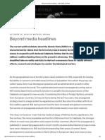 Beyond Media Headlines – MICHAEL KRONA