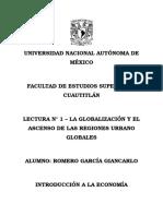 Lectura No. 1 - LA GLOBALIZACIÓN Y EL ASCENSO DE LAS REGIONES URBANO GLOBALES