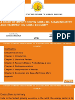 Dissertation Presentation Impact of Import driven Indian oil Industry
