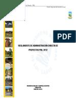 Reglamento Adm Directa Fril 2012
