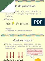 Grados y Operaciones de Polinomios