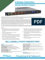 Newmar Powering the Network DST-8-RB Remote Reboot Distribution Panel -48VDC 12VDC 24VDC