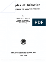 Principles of Behavior. An Introduction to Behavior Theory - Clark L. Hull