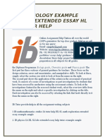 Extended essay help biology