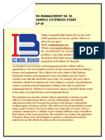 IB BUSINESS MANAGEMENT HL SL EXAMPLE SAMPLE EXTENDED ESSAY TUTOR HELP IA.docx