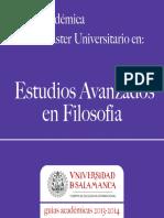 Estudios Avanzados Filosofia