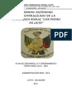 Esquema Final. Pdot.licto 2009-2014