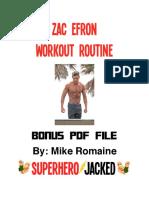 Zac Efron Workout Routine