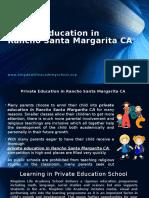 Private Education in Rancho Santa Margarita CA