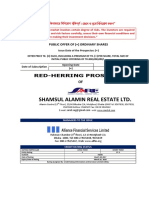 Red Herring Prospectus of Shamsul Alamin Real Estate Limited