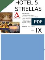 Trabajo Diseño Hotel 5 estrellas, terrenos, analisis comparativo