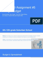 edld 679 assignment 5 design budget