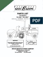350 Series Broce Broom Parts Catalog 88650 901871