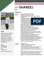 Resume Shaneej Kumar