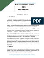 Plan de Seguridad y Salud Ocupacional 2014 SEGUNDO GONZALES MUÑOZ