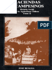 Hacienda y Campesinos, Historia Social de La Agricultura Chilena, Tomo II, José Bengoa