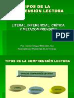 TIPOS DE COMPRENSIÓN LECTORA.pps
