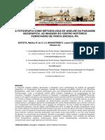 A Fotografia Como Metodologia de Análise Da Paisagem Geográfica- As Imagens Do Centro Histórico Ferroviário de Ponta Grossa, Pr.