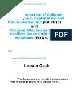 NPC. RA 7610 (Child Abuse) and EO No. 56