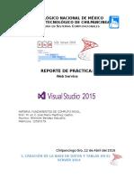 Reporte de Práctica Webservices