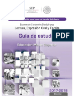 Guía de Estudio Lectura y Expresión Oral y Escrita prepa México