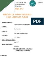 1 Informre de Presion de Vapor Con Datos Arreglados