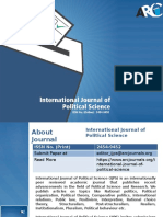 International Journal of Political Science - ARC Journals