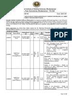 Aiims Bhubaneshwar Recruitment Notification 2017