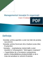 Curs 4 Managementul Inovației În Organizații