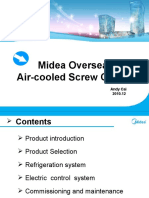1st Generation Air-cooled Screw Chiller Commissioning & Service
