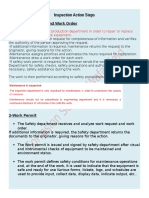 Inspection Action Steps