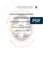 SIM - Unidad 3 Topicos de Investigación de Mercados - Diana M. Basurto Oliva