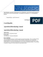 Agricultural Biotechnology Annual Prague Czech Republic --- 10 Pages