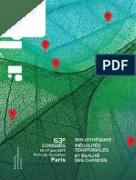 Programme du 63e Congrès de l'ABF à Paris - juin 2017