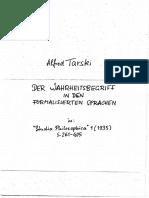 Tarski Deutsch