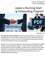Give Employees a Running Start with a Strong Onboarding Program