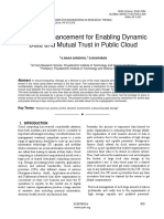 Security Enhancement for Enabling Dynamic Data and Mutual Trust in Public Cloud