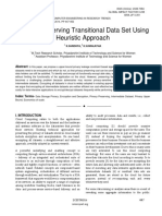 Privacy Preserving Transitional Data Set Using Heuristic Approach