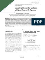 Novel Decoupling Design for Voltage Control of Wind-Driven IG System