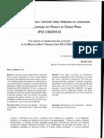 A Distinção Entre Autor e Partícipe Como Problema Do Legislador - Greco e Leite
