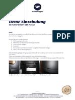Manual Operating Manual Wohnwagon Bedienungsanleitung Betriebsanweisung