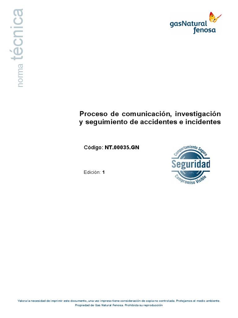 Proceso de comunicación, investigación y seguimiento de accidentes e ...