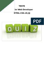 Teste HTML CSS JavaScript